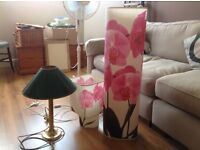 3 lamps. 2 matching floral lamps, one table lamp