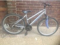 Ladies Mountain Bike with front suspension 18 speed