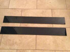 Black Toughened Glass Splashback