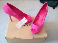 Ladies hot pink mango heels size 39 brand new all tags