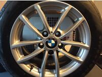 16 inch bmw 1 series alloys with tyres