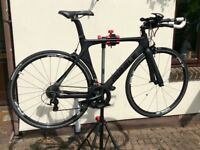 TT/Triathlon Bike, Ribble Areo 105 2018 Matt Black (carbon fibre).