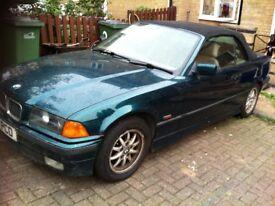 bmw 318i green 1996 soft top convertable 1796 cc