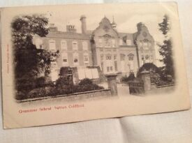 Vintage Post Card of the Grammar School, Sutton Coldfield.