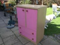 Sturdy cupboard with drawers