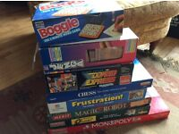 Vintage Magic Robot plus other board games
