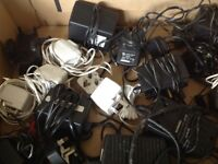 Box of adaptors, chargers, cables etc. Free.