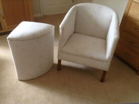 Single tub chair and matching linen basket