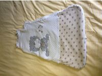 Baby Sleeping Bag, 0-6 months, 2.0tog, Unisex, Lovely condition.