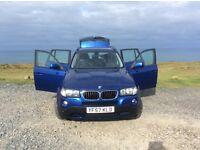 BMW X3 2 Litre diesel in blue