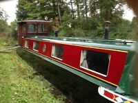 40ft narrowboat barge canal boat Edinburgh