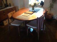 Original GPlan dining table, sits 6-10 people