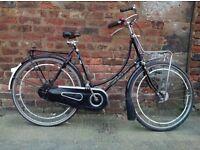 Gazelle ladies upright Dutch 3speed town bike,