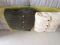 Cushions Arran - pair. Hand knitted New