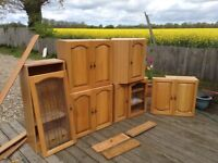 Kitchen units with solid wood doors