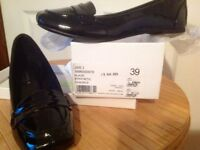 Kurt Geiger Black Paton Shoes Ladies Size 6 (small made) New in Box