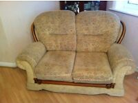 Sofas- 2x2 seaters,Electric recliner armchair and storage Poufee.