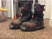 New Rock purple flame boots size 7 (EU 40)