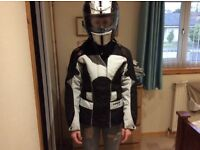 Ladies small motorcycle Jacket and helmet brand new