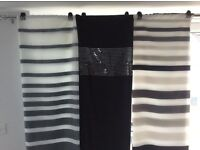 x3 black & white shower curtains from NEXT