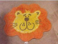 Jungle theme lion childrens rug