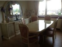 Dining suite,Cabinet and mirror,allegorical style,lovely set,£350.00
