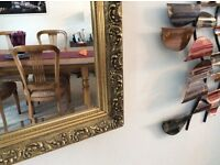 """Large gold ornate mirror, very good condition, 52"""" x 40"""". Heavy, buyer collects £50"""