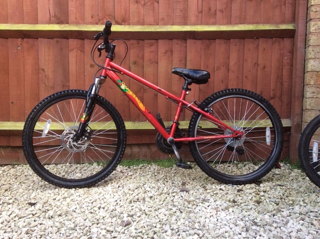 Red Apollo Crank 24 Quot Wheels Boys Mountain Bike In Blaby