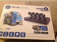 Home Gaurd cctv kit 4 cameras HD 720 resolution