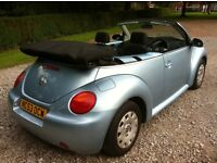 vw beetle 1.4 convertible 53 reg power steering, cd player, electric windows, mot april 2017