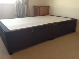 Quality Small Double Divan with drawers