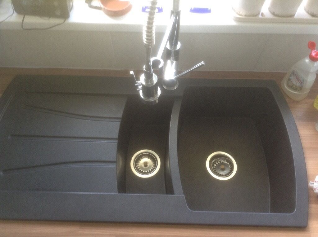 1.5 bowl resin black Cooke & Lewis kitchen Sink | in Newton Abbot ...