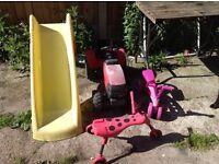 kids toys slide tractor bikes
