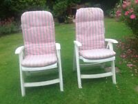 Large comfortable garden arm chairs