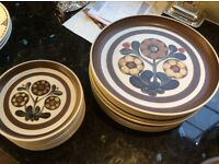 Fabulous 1970s vintage Denby - Langley Mayflower dinner service in perfect condition