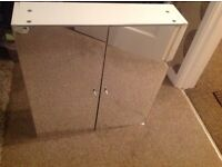 Double sided mirror bathroom cabinet . Good condition. White.