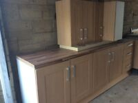 Kitchen units and fan oven for sale