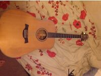Acoustic guitar for sale, crafter d12/n used.