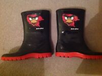 Boys Angry Bird Welly Boots size 1