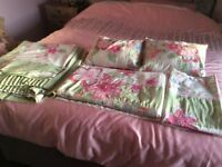 Curtains duvet matching pillows and cases