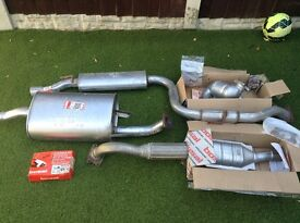 Brand New Full Exhaust System Volvo V40 + Twin Cat Converters + fixings