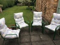 Set of 4 1970's Garden Chairs