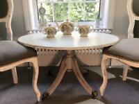 Shabby Chic Vintage Coffee Table Solid Wood Brass Lion Feet