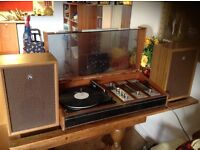 Sanyo Deccasound compact 3 record player/turntable and radio...