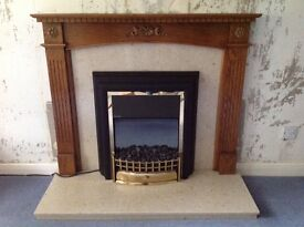 Dimplex electric fire, fireplace and surround.