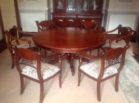 Large Dining-room Table & 6 Matching Chairs