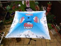 GARDEN UMBRELLA - COORS LIGHT BRAND NEW