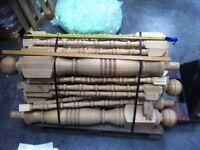 Oak Newels & Balusters