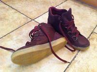 Grungy purple All Saints boots.