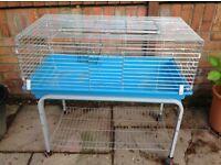 Indoor guinea/rabbit cage on wheels